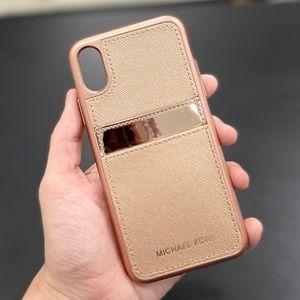 Michael Kors Saffinao Card Holder iPhone XS Case